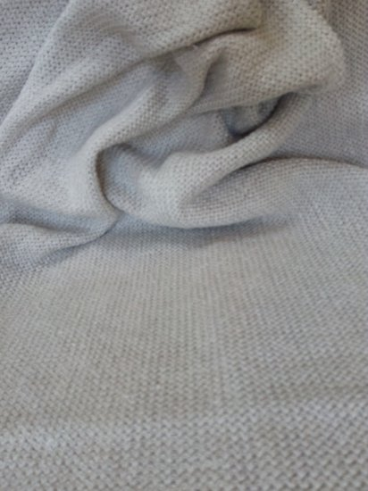 Purely Hemp Knitted Small Blanket/Throw - 100cm x 75cm