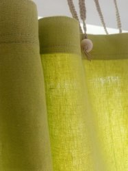 Hemp Shower Curtain Purely Lime Green 180cm Width