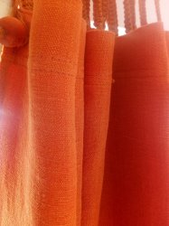 Hemp Shower Curtain Purely Burnt Orange 180cm Width