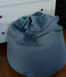 Purely French Blue-Gray - Large Hemp Beanbag Cover