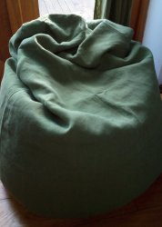 Purely Sage Green - Large Hemp Beanbag Cover