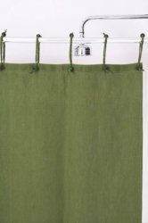 Hemp Shower Curtain Purely Sage Green 180cm Width