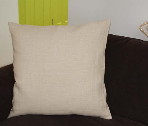 60cm x 60cm - Hemp Cushion Cover, choose from 4 colours - Click Image to Close