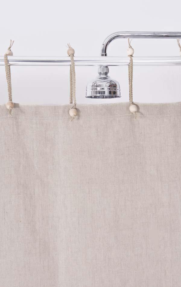 Hemp Shower Curtain Purely Natural 140 width x 165 drop
