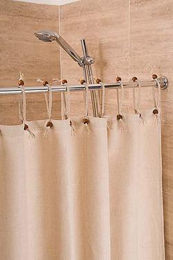 Hemp Shower Curtain - 'Purely Natural' 143cm width x 188cm drop