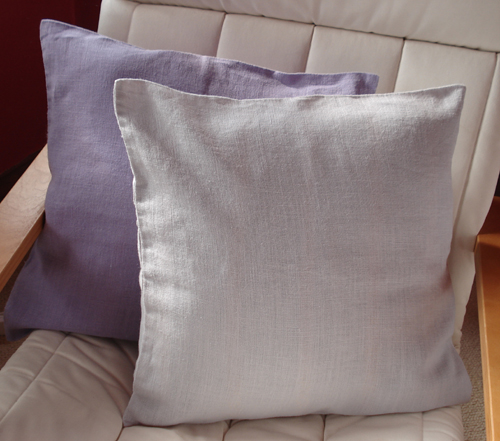 Hemp Cushion Cover - Ice Grey, 45cm x 45cm
