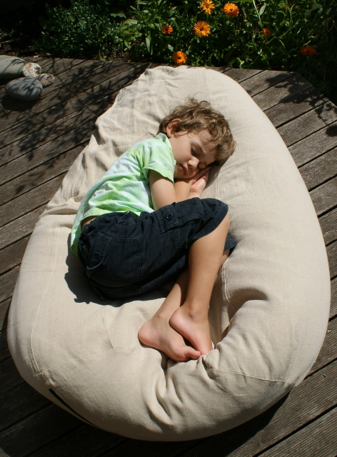 Hemp Beanbag great as a lounger and a chair